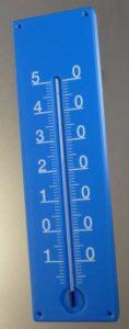 Werbeträger Thermometer aus Kunststoff
