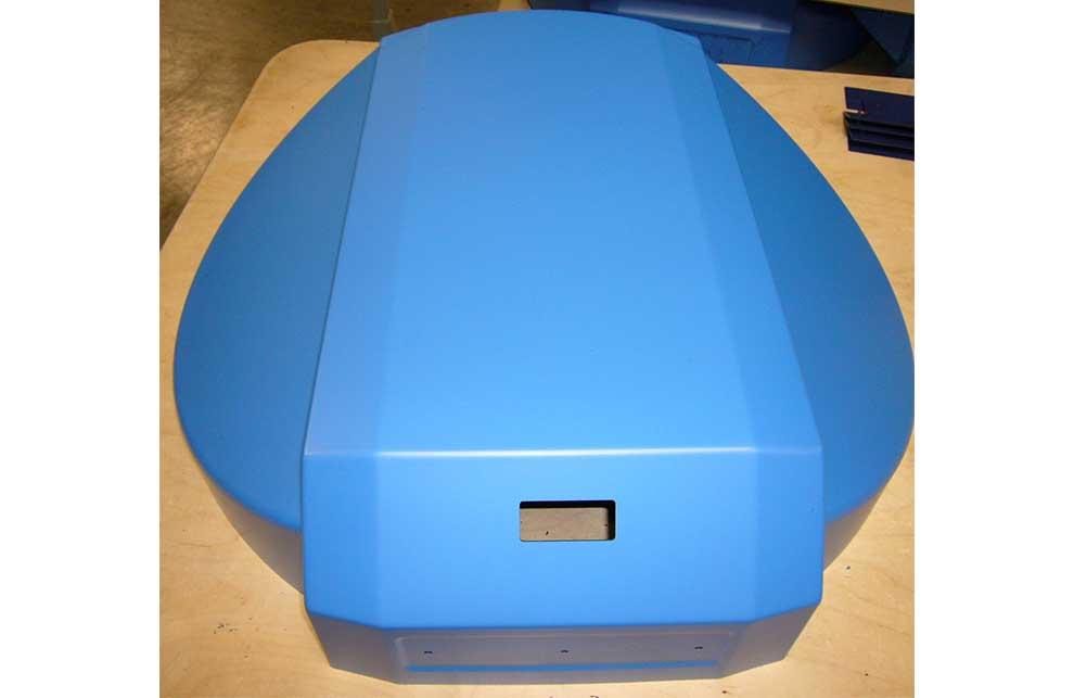 Kunststoffdeckel in blau