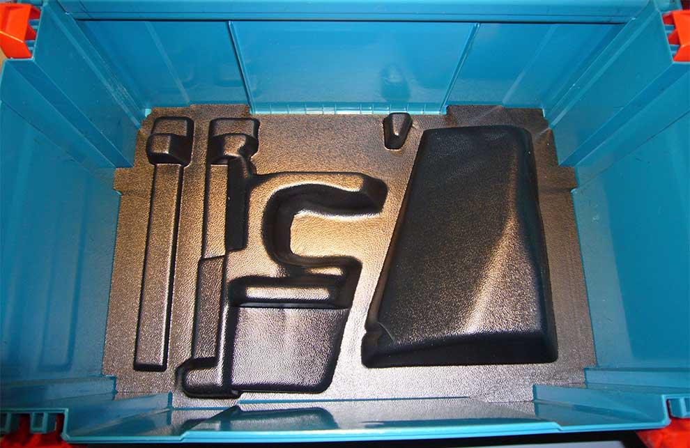 Einsatz für Werkzeugkoffer aus Kunststoff